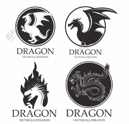 龙纹图标图形标志标识素材图片
