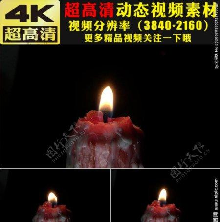 唯美蜡烛燃烧火光火焰视频素材