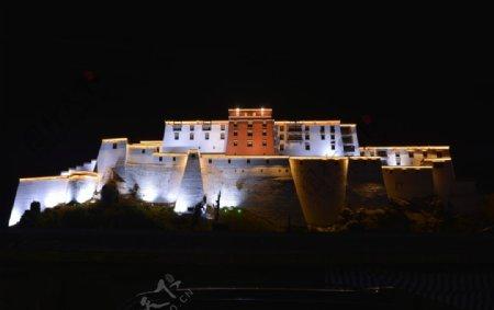 西藏布达拉宫建筑风景图片