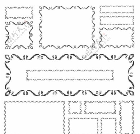 欧式花藤纹理边框图片