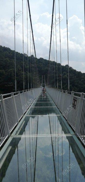 一字玻璃桥旅游摄影图片