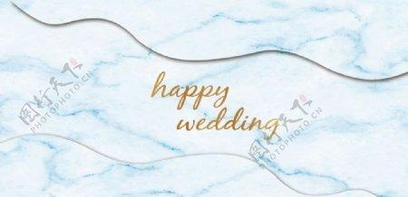 天蓝色婚礼图片