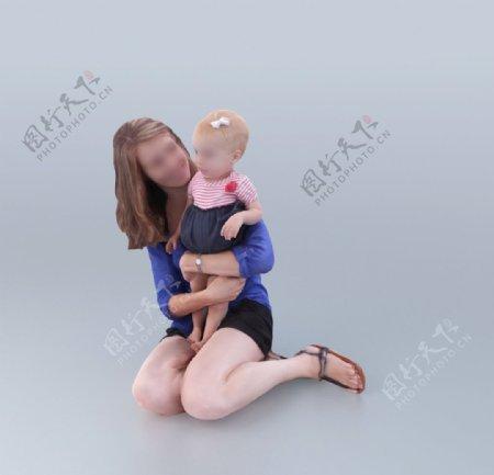 亲子亲子3D模型妈妈宝宝图片