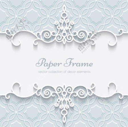 白色蕾丝花纹边框图片