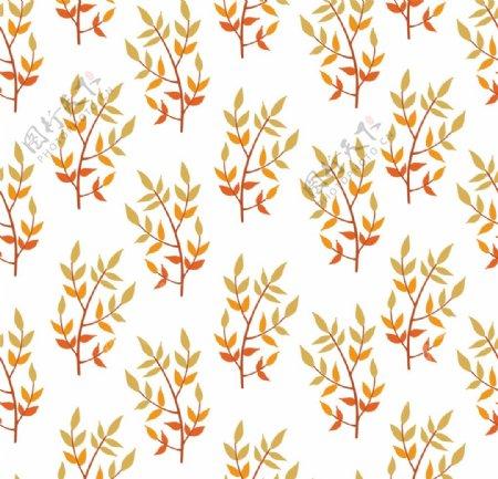 无缝素材无缝植物素材平铺印花图片