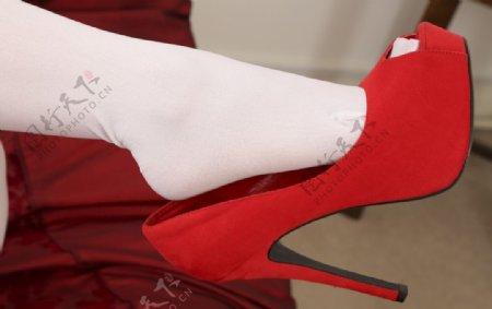 美腿丝袜美女高跟鞋连裤袜图片