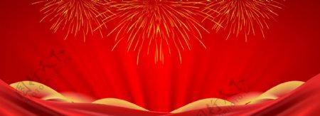烟花红背景图片