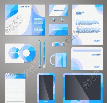 现代企业VI模板矢量图片