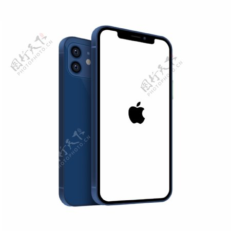 iphone12蓝色苹果手机图片