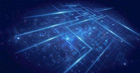 科技感闪耀线条环绕广告背景图片