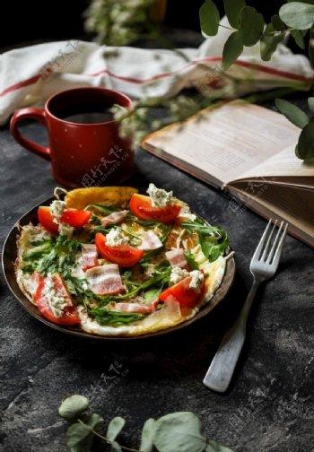 早餐餐饮美食西餐美食食品图片