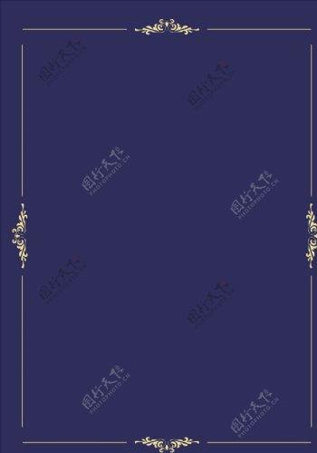 简约欧式边框素材图片