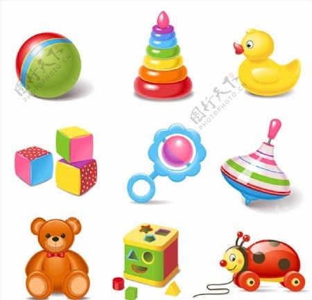可爱的儿童玩具图片
