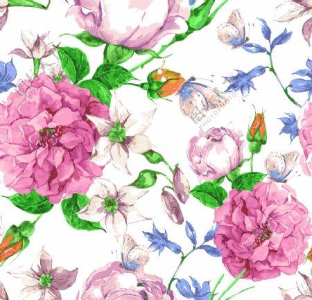 大朵牡丹月季绣球花图片