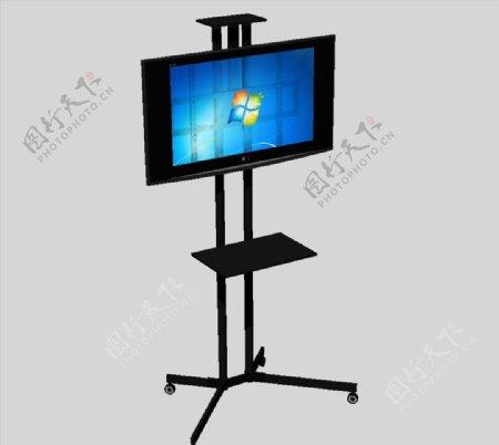 可移动电视机3D模型图片