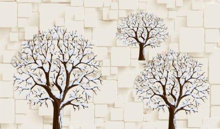 抽象树枝大树背景墙壁纸壁画图片