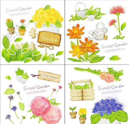 花卉底纹图案图片