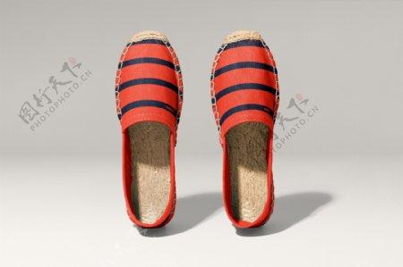 女士鞋子拖鞋样机图片