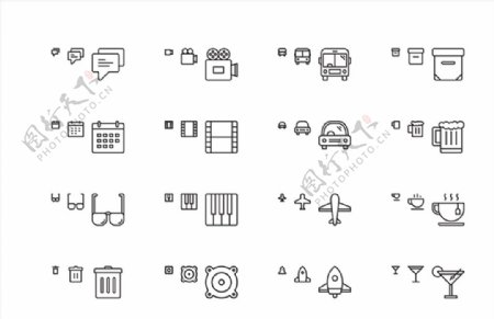 响应式网站图标平面SEO图标U图片