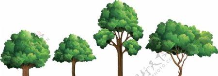 卡通大树矢量图图片
