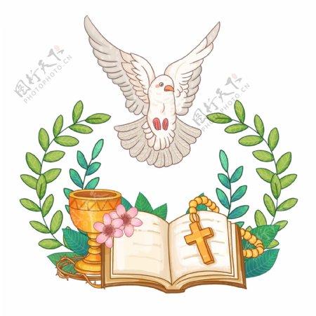 圣经鸽子元素图片