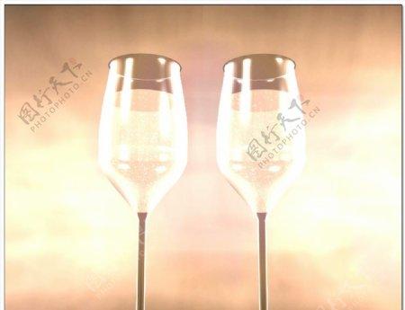 婚礼视频交杯酒背景
