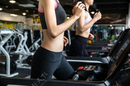 运动跑步健身人物背景海报素材图片