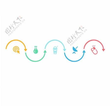 造型彩色线条箭头图标可爱图片