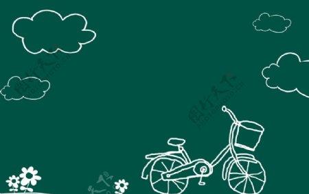 单车恋人图片