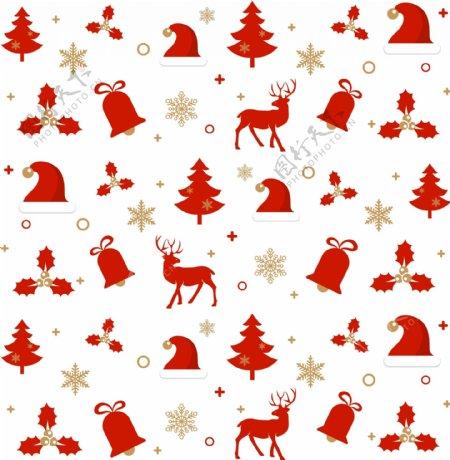 矢量精致圣诞节喜庆底纹素材图片