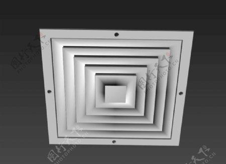 排风口3d模型图片
