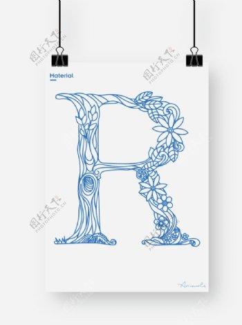 英文字母R图片