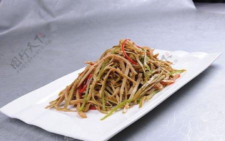 豫菜竹笋肚丝图片