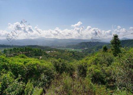 丘陵山地自然风景图片