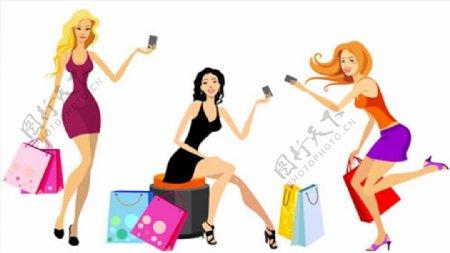 购物美女人物图片