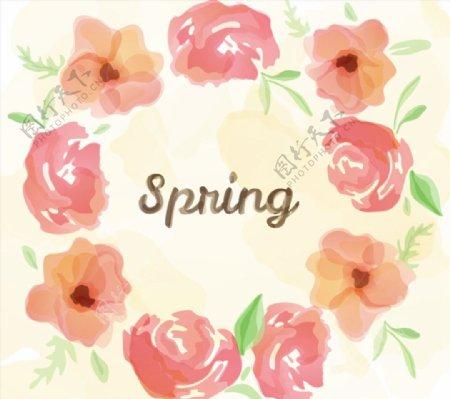 春季水彩花卉图片