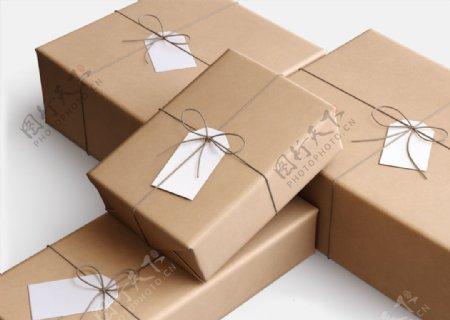 牛皮纸包装盒样机图片