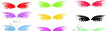 七彩翅膀图片