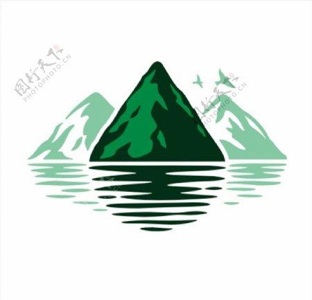 山水图案图标CDR矢量图图片