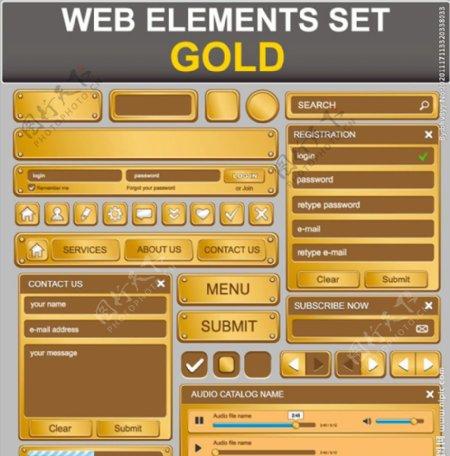 钮网页设计元素图片