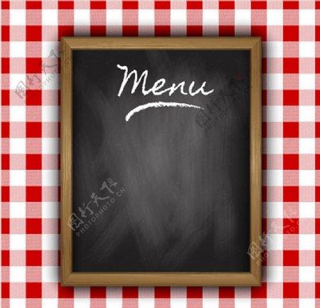 空白黑板菜单图片