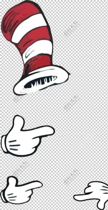 卡通帽子素材图片
