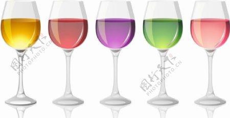 酒杯矢量图片