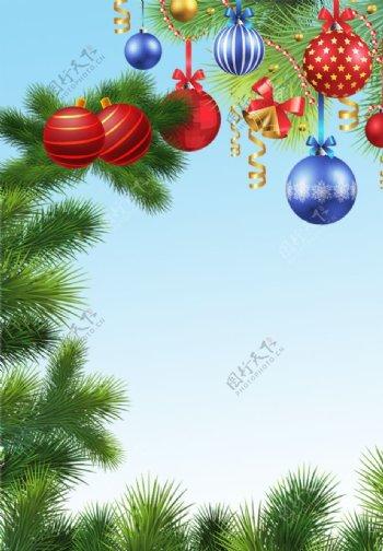 挂满圣诞礼物的圣诞松树图片