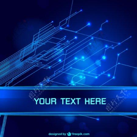 互联网蓝色科技背景图图片