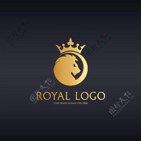 金色皇冠狮子图片