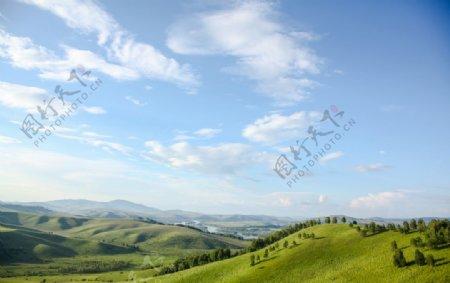 绿草青山风景图片