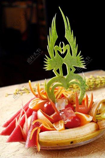 西餐精美水果拼盘图片