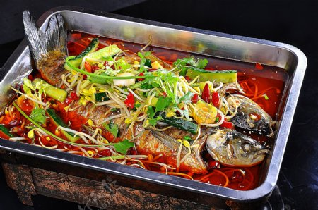 香辣烤鱼图片