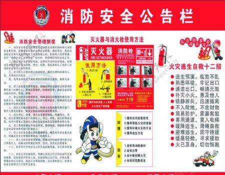 消防安全公告栏图片